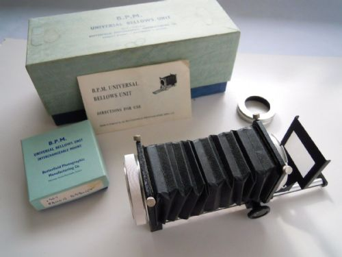 B.P.M. UNIVERSAL BELLOWS UNIT WITH ADAPTER FOR PENTAX M39, CANON FD , SLIDE COPY